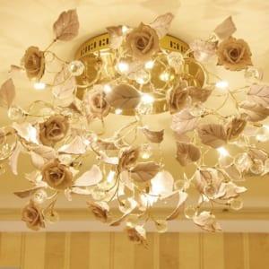 DTT045-6-den tran trang tri hoa hong phong cach Phap